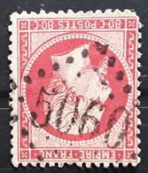 Empire Dentele No 24 A, 80 C Rose Foncé   Obl GC 5060 Bureau De SAIDA , Oran Algérie  Indice 13 BTB - 1862 Napoléon III.