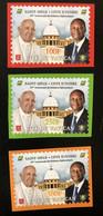 Côte D'Ivoire Ivory Coast 2020 Mi. ? IMPERF ND Joint Issue Emission Commune Vatican 50 Ans Relations Pape Pope President - Côte D'Ivoire (1960-...)
