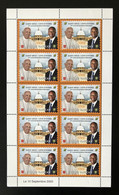 Côte D'Ivoire Ivory Coast 2020 Mini-sheet 500F Joint Issue Emission Commune Vatican 50 Ans Relations Pape Pope President - Costa D'Avorio (1960-...)