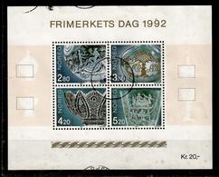 Norwegen / Norge  1992  Mi.Nr. 1119 / 22 (Bl.19) , Frimerkets Dag 1992 - Gestempelt / Fine Used / (o) - Gebraucht
