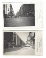 WW2   1944  ( Paris )  Quartier  St-Georges  Barricades   25 Août   2 Cartes Photo  9 X 14 Cm - Weltkrieg 1939-45