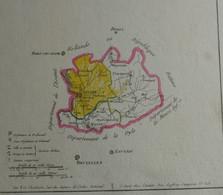 Empire Français 1802 – Carte Du Département Des Deux-Nèthes – Anvers Turnhout Malines - Mapas Geográficas