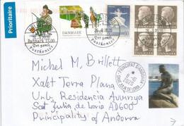 Lettre Du Danemark 2020,adressée Andorra Pendant Le Lockdown Covid19,avec Prevention Coronavirus Au Verso Lettre - Cartas