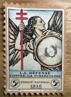 VIGNETTE TUBERCULOSE 1936 GRAND FORMAT 5F - MNH - Tegen Tuberculose