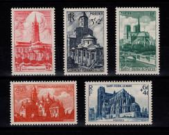 YV 772 à 776 N* Cathedrales Cote 7 Euros - Unused Stamps