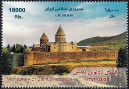 Iran 2020 Stamp Monastery Of Saint Thaddeps Church Unesco World Heritage - Iran