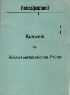 AUSWEIS REICHSSPORTABZEICHEN CARTE INSIGNE DU SPORT BRONZE KRIEGSMARINE 1939 - 1939-45