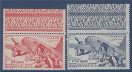 Timbres De Bienfaisance Des PTT De 1947 Neufs N°56 Et 57 Avec Bordures HautesA L'air Pur - Erinnofilie