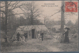 Villecresnes , Travail Du Bois Dans La Forêt , Animée - Villecresnes
