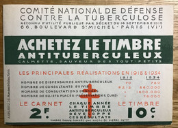 CARNET TUBERCULOSE 1934 Type A Avec Indice MARNE - COMPLET - MNH - LUXE - Tegen Tuberculose