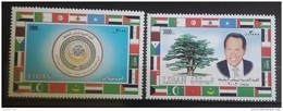 Lebanon 2002 Mi. 1417-1418 Complete Set 2v. MNH - Arab Leaders Summit, Beirut - Flags, President - Libano