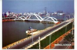 BANGLADESH: Hatirjheel Road Bridge, Dhaka, New Postcard. - Bruggen