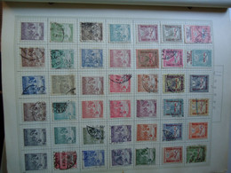 HUNGARY STAMPS OLD ON PAPERS PAGES 9 AND POSTMARK PHOTO 9 - Ohne Zuordnung