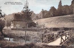 76 - ANNEVILLE ANNEVILLE Pont & Maison Normande - Jolie CPSM Village (1.205 H) Dentelée Colorisée PF 1952 - Seine Mme - Sonstige Gemeinden