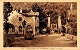 74 - Hôtel Restaurant Du Pont De L'Abîme (oldtimer Animée PLM) - Otros Municipios
