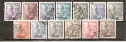 España/Spain-(usado) - Edifil  1047-59 - Yvert  788-92, 817-18, 819A-20A (o) - 1931-50 Usados