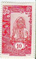 Cote Des Somalis 1915 Femme Indigene 10c YT 87 - Nuovi