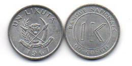 Congo - 1 Likuta 1967 UNC Lemberg-Zp - Congo (Democratic Republic 1964-70)