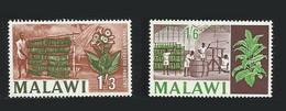 Malawi 1964-1966 Yvert 9 ** + 48 ** Industrie Du Tabac Tobacco - Malawi (1964-...)