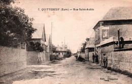 3123  Carte Postale  QUITTEBEUF Route De Saint AUBIN  Petite Animation Vélo        27  Eure - Autres Communes