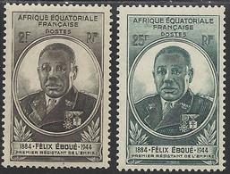 AFRIQUE EQUATORIALE FRANCAISE - AEF - A.E.F. - 1945 - YT 206/207** - Nuevos