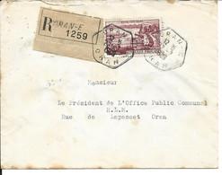 Algérie LR  Timbre De France YT 1193 Oran 27/07/58 - Covers & Documents