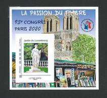 Bloc-Feuillet FFAP 93e Congrés PARIS 2020 - FFAP