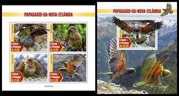 S. TOME & PRINCIPE 2020 - Kea Parrots. M/S + S/S. Official Issue [ST200415] - Parrots