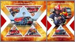 SAO TOME 2020 MNH Fire Engines Feuerwehr Fahrzeuge Camions De Pompiers M/S+S/S - OFFICIAL ISSUE - DHQ2041 - Pompieri