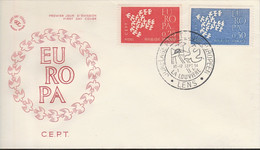 1309/1310FDC EUROPA (chevalement/mine/colombe) LENS 16.9.61 - 1960-1969