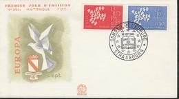 1309/1310FDC EUROPA - DROITS De L'HOMME - STRASBOURG 16.9.61 - 1960-1969