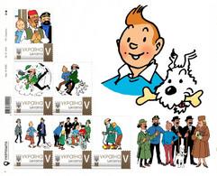 Ukraine 2020, Tintin Adventures, Sheetlet Of 6v - Ucrania