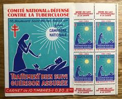 CARNET TUBERCULOSE 1961  - COMPLET - MNH - LUXE - Tegen Tuberculose