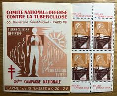 CARNET TUBERCULOSE 1964  - COMPLET - MNH - LUXE - Tegen Tuberculose
