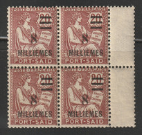 Egypt - 1921 - RARE - French Consular Post Office In Egypt ( Port Said ) - Surcharged ( 8m On 20c ) - MNH** - 1915-1921 British Protectorate