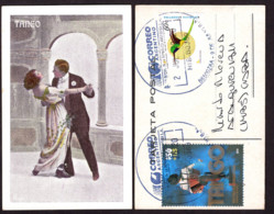 Argentina - 2020 - Tango - Petite Carte Postale - Illustration - Couple Dansant Le Tango - Music