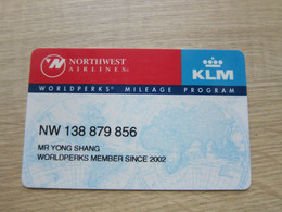 Northwest Airlines Mileage Card,Worldperks Card,KLM - Unclassified