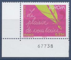 N° 4181 Europa, L'écriture D'une Lettre , Valeur Faciale 0,55 € - Ongebruikt