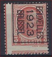 """Curiositeit """" Gedecentreerd """" Houyoux Nr. 192 Voorafgestempeld Nr. 78B  BRUXELLES 1923 BRUSSEL ; Staat Zie Scan ! - Typo Precancels 1922-31 (Houyoux)"""