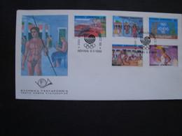 GREECE  FDC   1990 GREECE OLYMPIC GAMES HOMELAND - Ohne Zuordnung