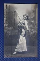 Sexy  Dancer , Real Vintage Photo Postcard With Autograph - Spain 1910s - Dans