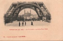 Paris Société Anonyme La Soie, Exposition De 1900: Le Trocadéro Vu De La Tour Eiffel - Carte N° 26 Dos Simple - Tentoonstellingen