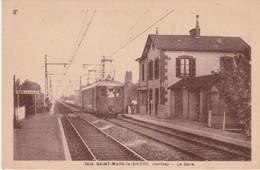 N°6161 R -cpa Saint Mars La Brière -la Gare- - Estaciones Con Trenes