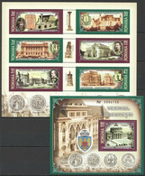 RM080 2007 ROMANIA ARCHITECTURE OLD BUCHAREST #6192-7 MICHEL 11,7 EURO KB+BL MNH - Andere