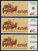 Belgie Belgien 2020 - Enet - Postkoets - OBP 4183a (nederlandse Tekst) + 2x 4684 (duitse En Engelse Tekst) - Belgium