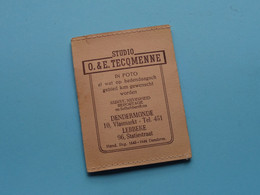 Studio O. & E. TECQMENNE > DENDERMONDE & LEBBEKE ( Kaftje / Mapje Voor Foto's > Formaat 8,5 X 6 Cm. ) + Fotokes ! - Luoghi