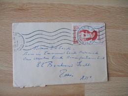 Yt  1084 Timbre J J Rousseau 15 F Seul Sur Lettre - 1921-1960: Modern Tijdperk