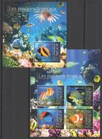 ST2847 2013 NIGER MARINE LIFE FISHES LES POISSONS TROPICAUX KB+BL MNH - Vita Acquatica