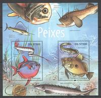 BC909 2011 S.TOME E PRINCIPE FISH & MARINE LIFE PEIXES 1BL MNH - Vita Acquatica