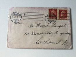 K10 Bayern 1912 Brief Von Nürnberg Nach London - Bayern (Baviera)